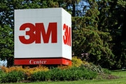 A sign in front of the 3M World Headquarters complex in suburban St. Paul.