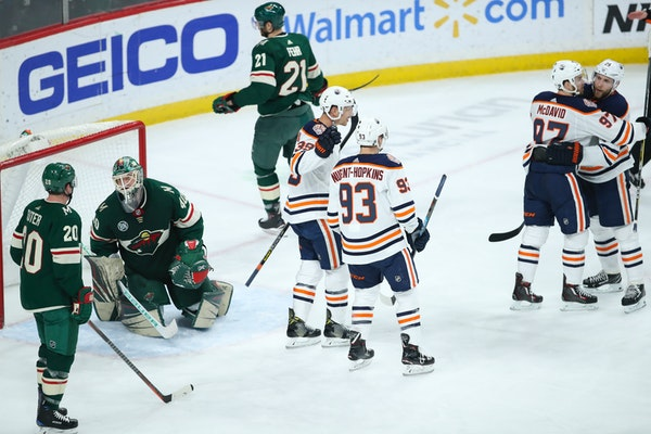 Edmonton center Leon Draisaitl taunted Wild defenseman Ryan Suter after he scored his second goal of the game in the third period