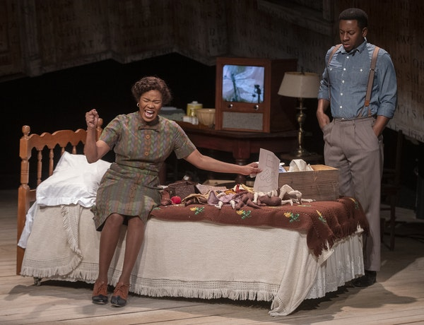 """Dame Jasmine Hughes and Darrick Mosley play a couple hurt by the fallout from Emmett Till's murder in """"Benevolence."""""""