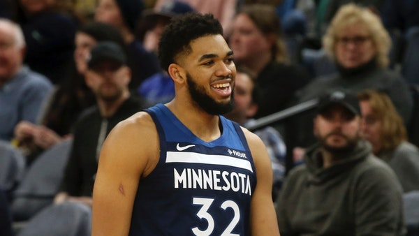 Karl-Anthony Towns and the Wolves played the San Antonio Spurs Jan. 18 in Minneapolis.