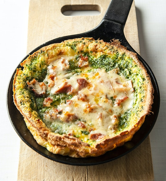 Savory Dutch Baby with Fresh Herbs, Proscuitto and Parmesan. Photo by Mette Nielsen * Special to the Star Tribune