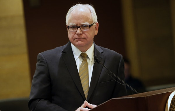 Gov. Tim Walz, shown in December, announced a plan Tuesday to ease the impacts of the federal government shutdown in Minnesota.