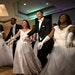 """Lillyan Stuart, a junior at Roseville, danced with her escort, AJ Scaife, with their fellow debutantes and escorts to """"Nosotros in Jazz"""" by Kazumi Tot"""