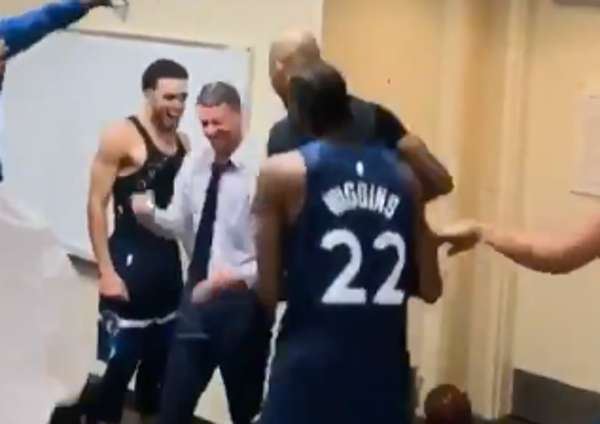 Watch: Wolves show how they feel about Ryan Saunders -- and Flip