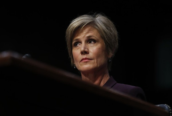 Former Acting Attorney General Sally Yates, seen in 2017, will lead an investigation into ketamine use during Minneapolis police calls.
