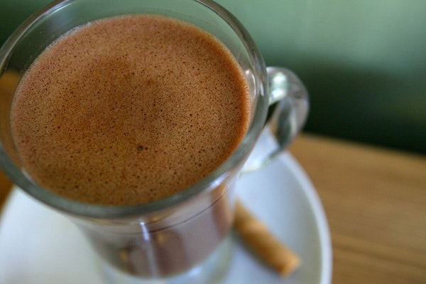 Hot chocolate from Kopplin's Coffee.