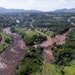 An aerial view shows flooding triggered by a dam collapse near Brumadinho, Brazil, in January.