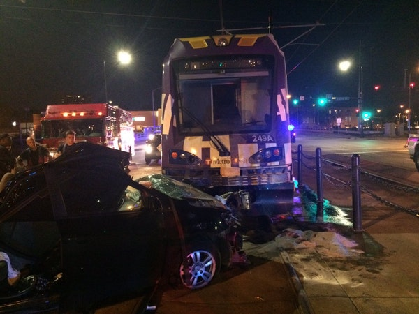 A photo from the scene following the fatal light rail crash that killed Nic Westlake in July 2017.