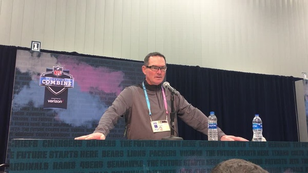 Zimmer: NFL Draft has 'good group of offensive linemen'