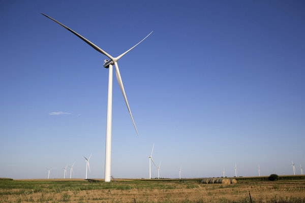 Xcel wants to expand a program that allows customers to connect their usage to wind and solar sources. (Megan Farmer/Omaha World-Herald via AP)