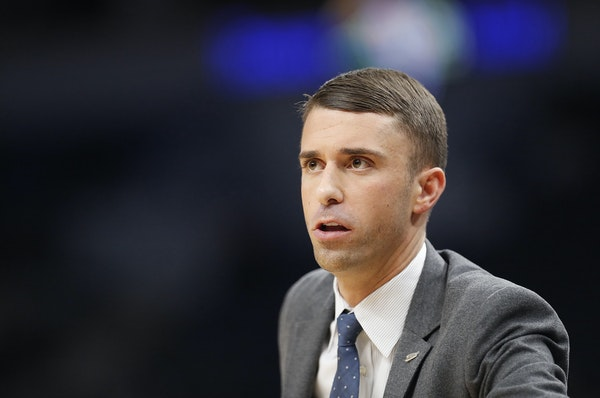 """Ryan Saunders points out that injuries have driven many of his decisions about playing time. """"We're doing whatever we can to try and scratch one o"""