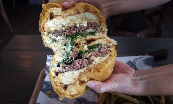 Outta Control: Copper Cow's deep-fried burger, bun and all