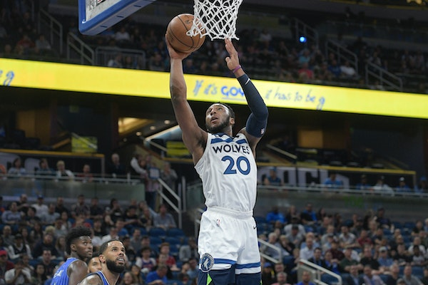 Timberwolves guard Josh Okogie went up for a shot against Orlando.