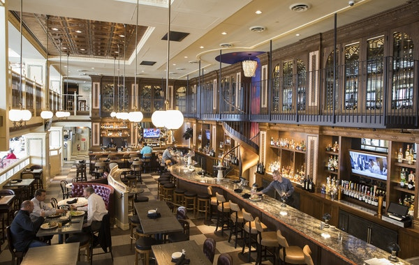The two-story bar at McKinney Roe.