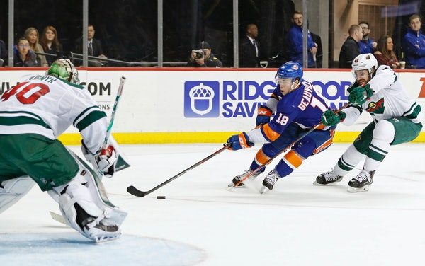 Parade to penalty box stings Wild in loss to Islanders