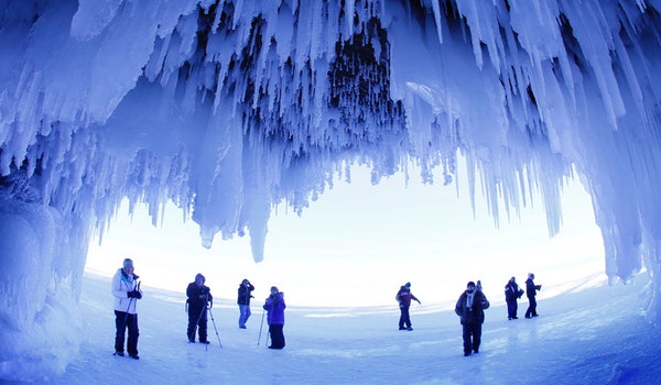 Stunning beauty in Apostle Islands ice caves