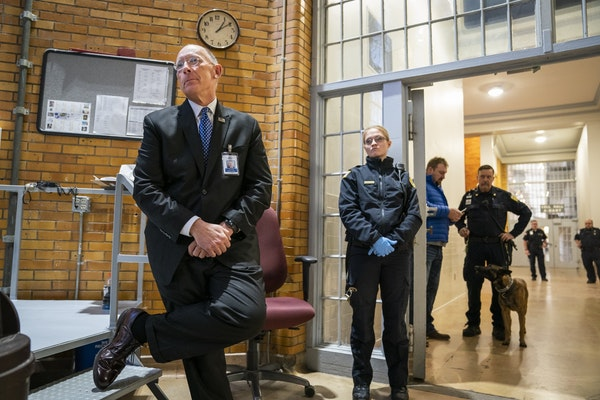 Minnesota Department of Corrections Commissioner Paul Schnell took part of a Jan. 25 tour of Stillwater prison.