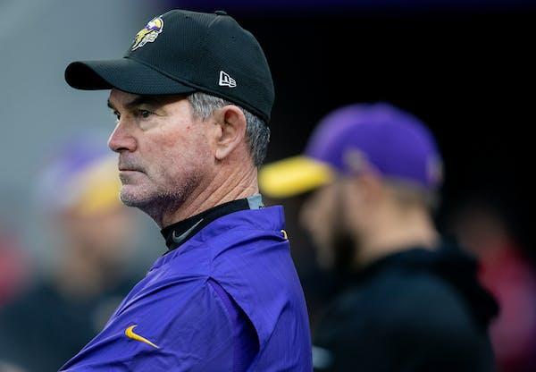 Vikings head coach Mike Zimmer.
