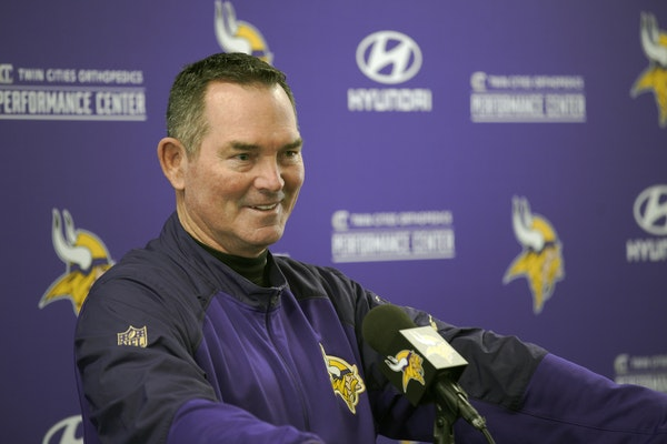 Mike Zimmer at his postseason news conference on Jan. 3.