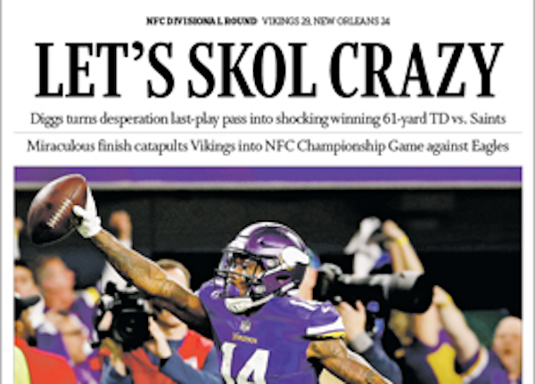Star Tribune wins Top 10 award for daily sports section