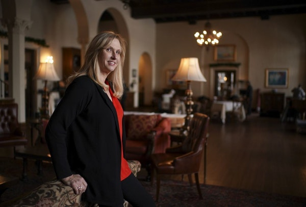 Renee Brown-Goodell, photographed at The Woman's Club of Minneapolis Tuesday afternoon.