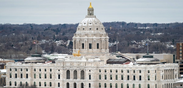 The Minnesota State Capitol as seen from downtown St. Paul. Funding for a cleanup plan at the WDE Landfill in Andover remains snarled in the Legislatu