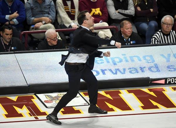 Gophers coach Richard Pitino