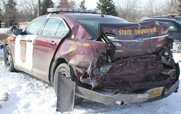 February saw more State Patrol squad cars hit than in any other month on record.