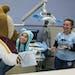 Goldy Gopher gave Leslie Marin a high five after her dental appointment . ] COURTNEY DEUTZ • courtney.deutz@startribune.com on Saturday, Feb. 9, 201