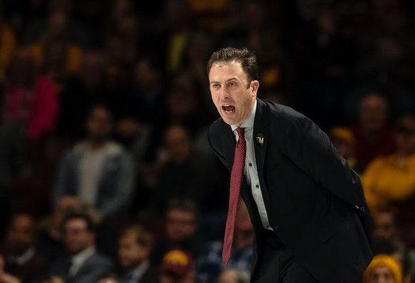 Gophers head coach Richard Pitino