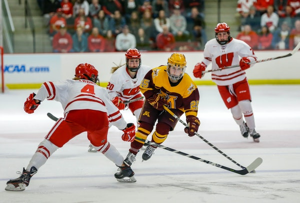 The Gophers' Nicole Schammel skated against Wisconsin in last year's Frozen Four.