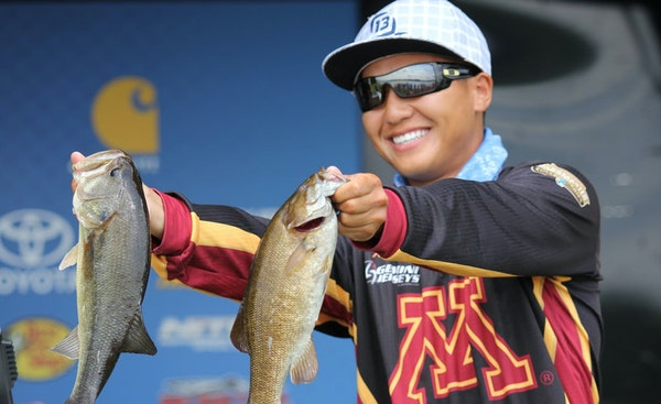 Trevor Lo, fishing for the University of Minnesota, won the national collegiate bass fishing title in 2015. He'll appear at the Northwest Sportshow