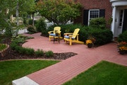 The finished front yard patio project by Bachman's Landscaping.
