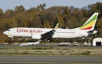 In this photo dated November 12, 2018, the actual Ethiopian Airlines Boeing 737 - Max 8 plane, that crashed Sunday March 10, 2019, shortly after take-