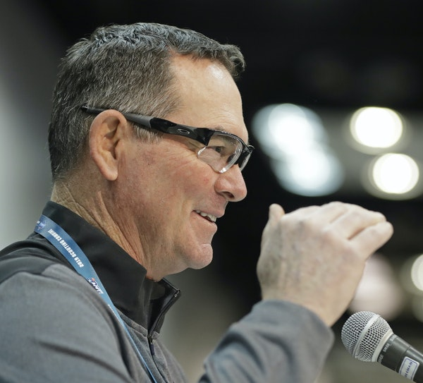 Mike Zimmer, speaking Thursday, said he reminded GM Rick Spielman how important the defense had been to the Vikings' success before Kirk Cousins'