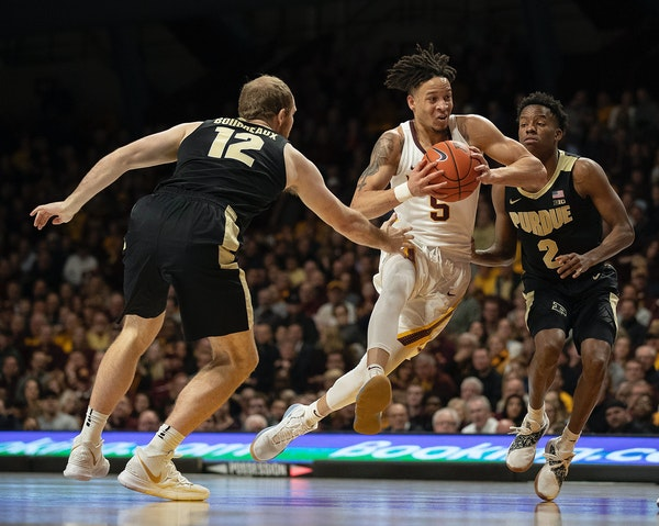 Gophers guard Amir Coffey has been a prolific scorer of late, averaging 29 points in his past three games, but the team's NCAA tournament chances ha