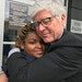 Mark Andrew and Deea Elliott shared a hug Thursday.