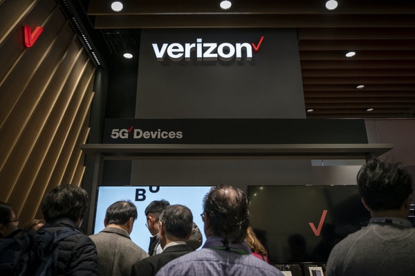 Verizon launched 5G network coverage in limited parts of Minneapolis and Chicago last week. File photo of Verizon's display of 5G-capable smartphone
