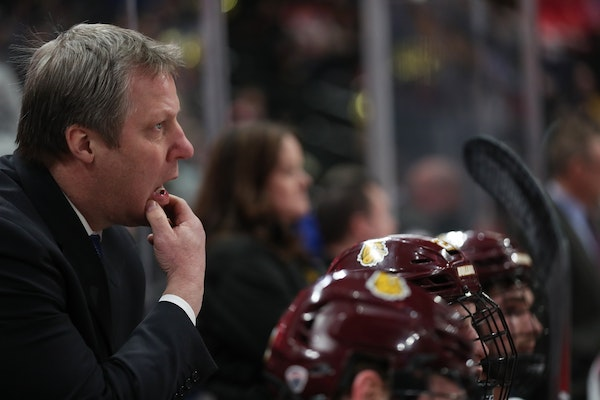 Coach Scott Sandelin's UMD team is one of three from Minnesota that has earned a No. 1 seed in the NCAA men's hockey field.