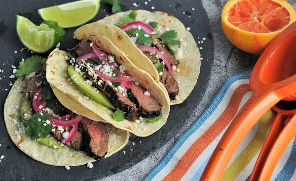 Smoky Citrus-Marinated Skirt Steak Tacos. MEREDITH DEEDS • Special to the Star Tribune