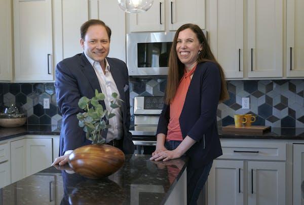 Jason and Alyssa DeRusha's new designer kitchen, created using artisan-crafted tile.