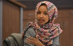 Rep. Ilhan Omar spoke to attendees of an immigration round table discussion Tuesday in Minneapolis. ] Aaron Lavinsky ¥ aaron.lavinsky@startribune.com