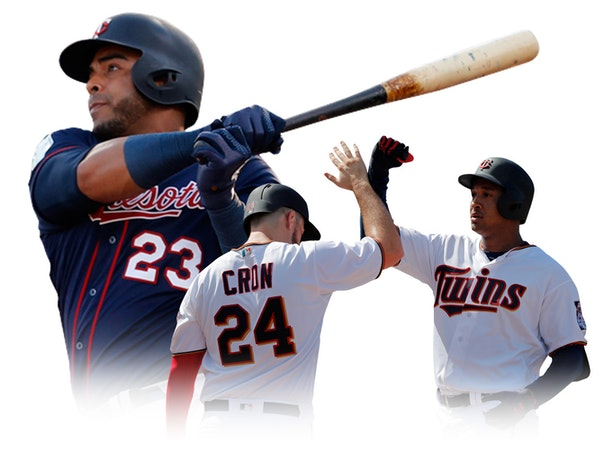 From left, Nelson Cruz, C.J. Cron and Jonathan Schoop are all Twins newcomers who can hit the ball over the fence ... and strike out ... and draw a wa
