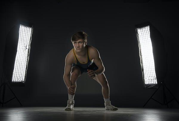 Jake Svihe of Totino-Grace is the Star Tribune Metro Wrestler of the Year. Photo: Jerry Holt • Jerry.holt@startribune.com