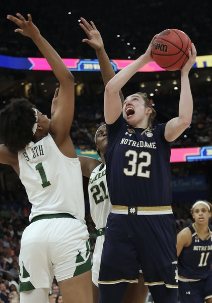 Notre Dame forward Jessica Shepard was the Lynx's first pick in the second round.