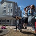 Patients and siblings of patients let loose at recess at Ronald McDonald House K-12 school in Minneapolis.