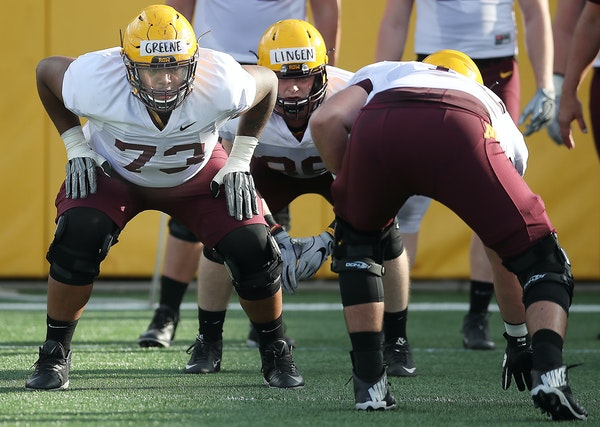 Former Gophers OL Greene on recovering from knee injury