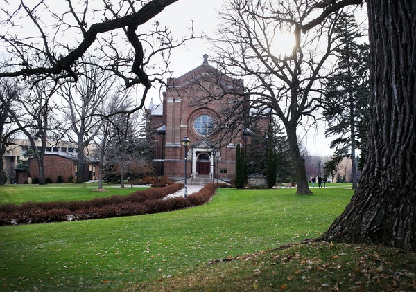 The Chapel of St. Thomas Aquinas on the University of St. Thomas campus Friday, Nov. 16, 2018, in St. Paul, MN.] DAVID JOLES • david.joles@startribu