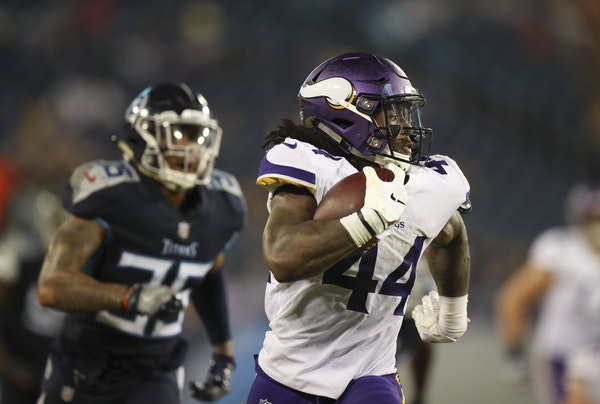 Minnesota Vikings running back Mike Boone (44)
