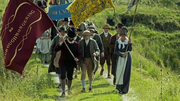 """Protesters in northern England demand their voting rights in """"Peterloo."""" What they got instead was a massacre.Amazon Studios"""